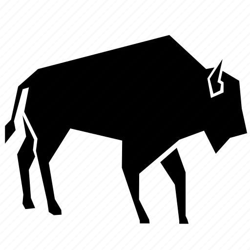 animal, bison icon