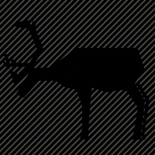 animal, caribou icon