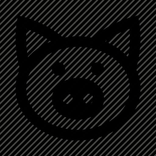 agriculture, animal, face, farm, farming, pig, piggy icon