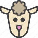 ewe, head, mutton, sheep icon