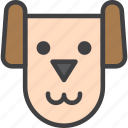 dog, head, pet icon