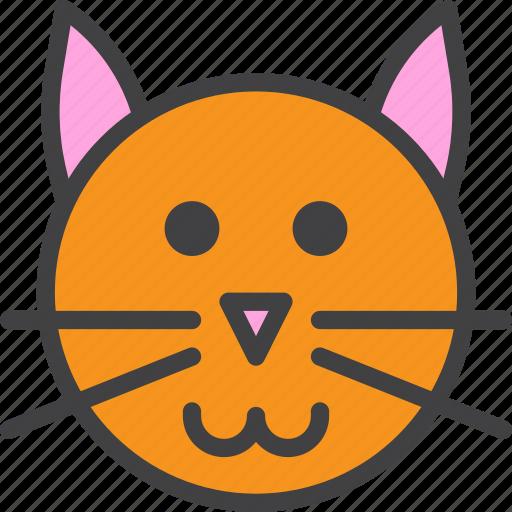 cat, head, pet icon