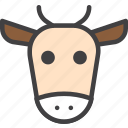 beef, cow, head icon