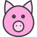 pig, pork, swine icon
