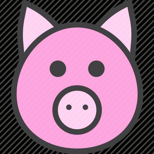 pig, pork, swine icon