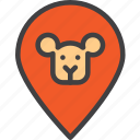 animal, location, map, pin, zoo