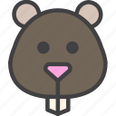hamster, head, rodent icon