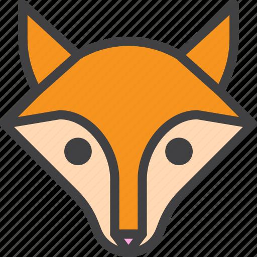 animal, fox, head icon