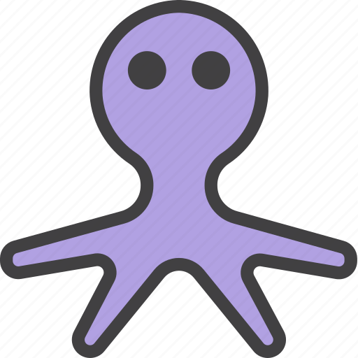 mollusk, octopus, poulpe icon