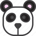 bear, head, panda icon
