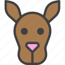 animal, head, kangaroo icon
