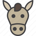 donkey, head, horse icon