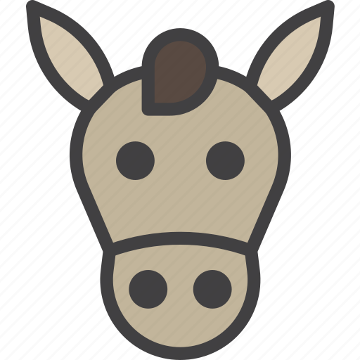 donkey, head, horse icon