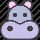 behemoth, hippo, hippopotamus icon