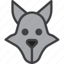 coyote, jackal, wolf icon