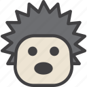 head, hedgehog, urchin icon