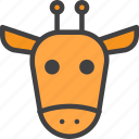 camelopard, giraffe, head, zoo icon