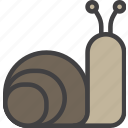 cochlea, slow, snail icon