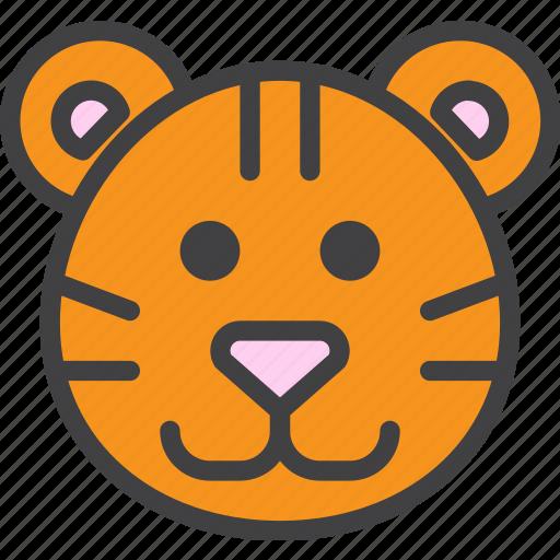 cat, tiger, wild icon
