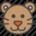 cat, puma, wild icon