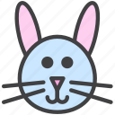 bunny, head, rabbit icon