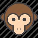 head, monkey, primate icon