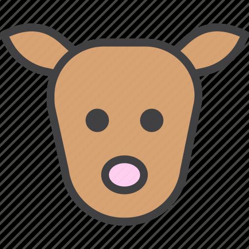 deer, fawn, head icon