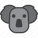animal, bear, head, koala
