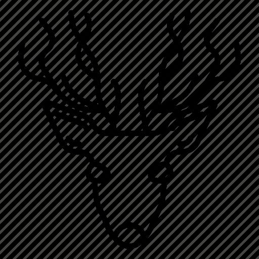 animal, deer, elk, reindeer icon