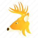 animal, deer, face, goat icon