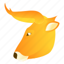 animal, animals, bull, cow, face, zoo icon
