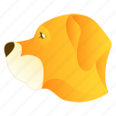animal, bulldog, dog, face, pet icon