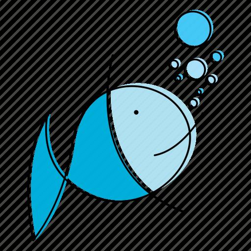 animal, aquatic, fish icon