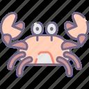 animal, crab icon