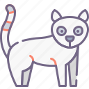 lemur, mammal, zoo icon