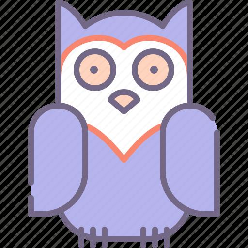 bird, night, owl icon