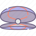 oyster, pearl, seashell icon