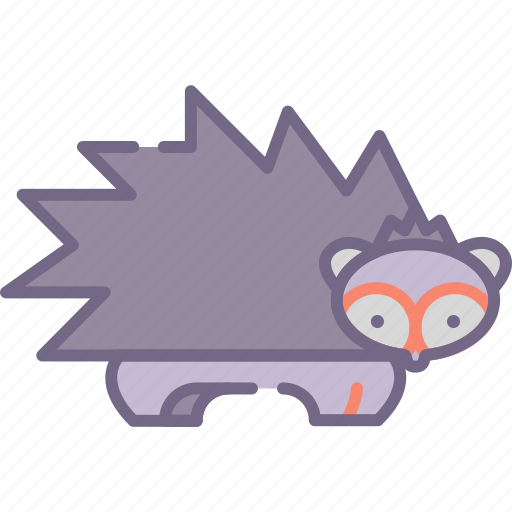 porcupine, rodent, spike icon