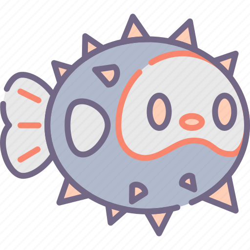 fish, fugu, puffer icon