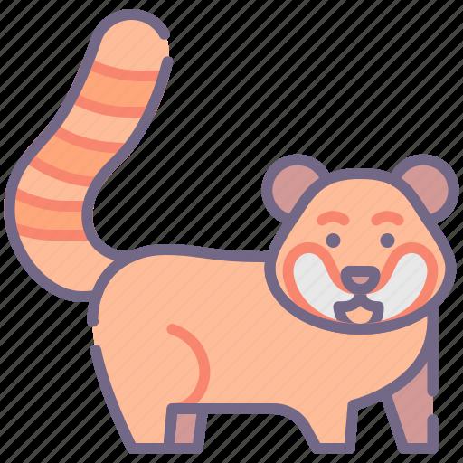 Animal, panda, red icon - Download on Iconfinder