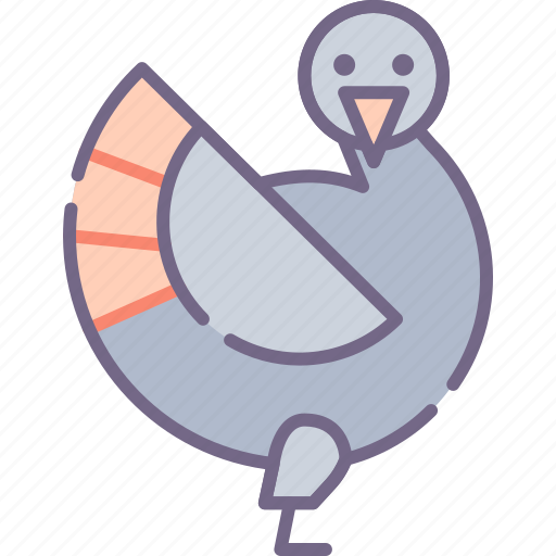 animal, bird, turkey icon