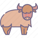 buffalo, bull, yak icon