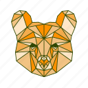 animal, bear, beast, facet, geometric, monster icon