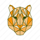 animal, facet, geometric, leopard, tiger icon