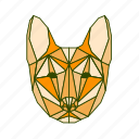 animal, dog, facet, geometric icon