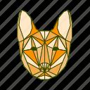 animal, dog, facet, geometric icon