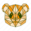 animal, facet, geometric, panda icon