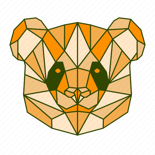 animal, facet, geometric, panda icon
