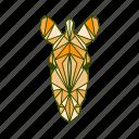 animal, facet, geometric, zebra icon