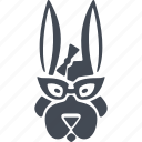 animals hipsters, hare, animal, bunny icon